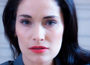 Colágeno efecto lifting facial, mentón, cejas, contorno